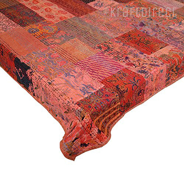 Vintage Patchwork Kantha Quilt - King Size - KraftDirect