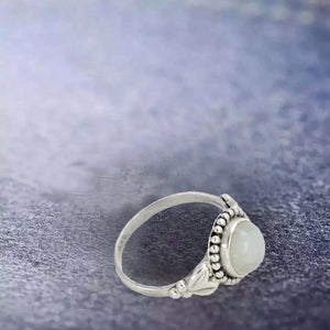 BUDDING APPEAL RAINBOW MOONSTONE RING