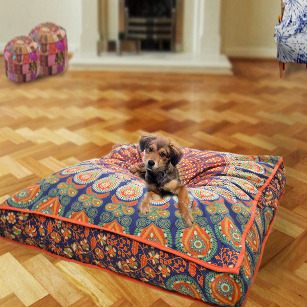 The Yogi Square Mandala Dog Bed