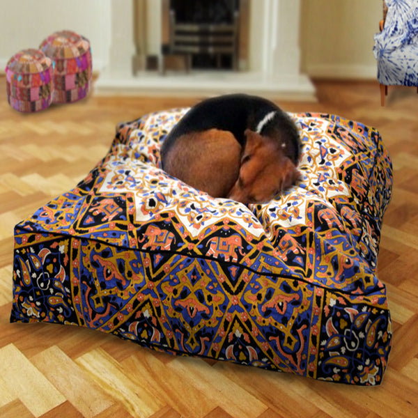 THE NIGHT SKY MANDALA DOG BED