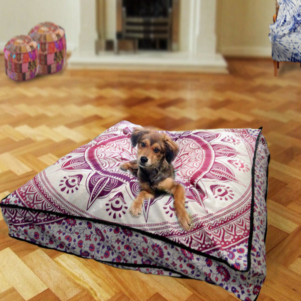 Mandala Square Dog Bed