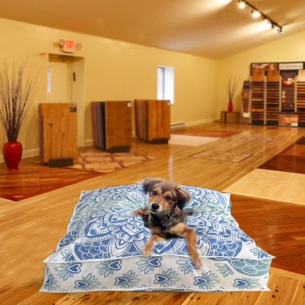 THE BLUE THRONE MANDALA DOG BED