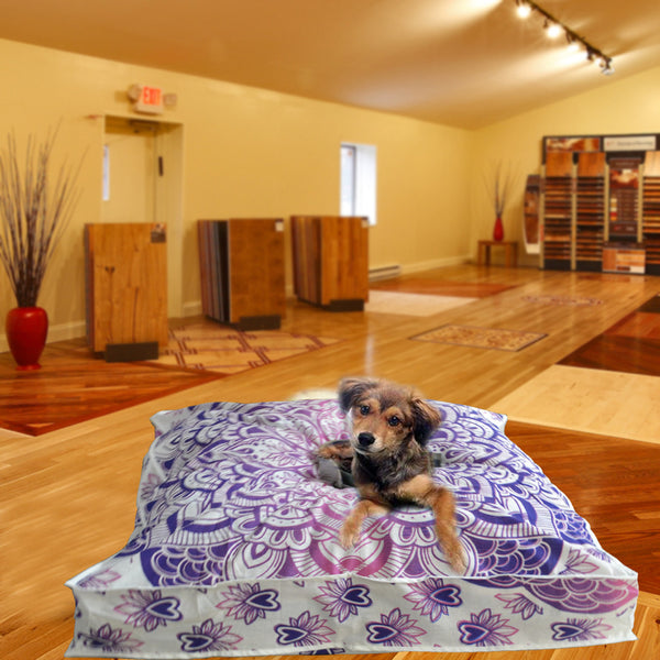THE LUCKY PURPLE MANDALA DOG BED