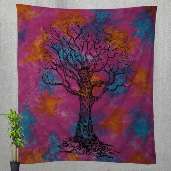 Hippie Tree of Life Bedding and Tie Dye Tapestry - KraftDirect