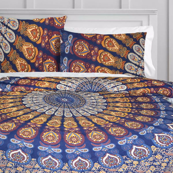 Rising Sun Mandala Duvet Doona Cover Set - KraftDirect