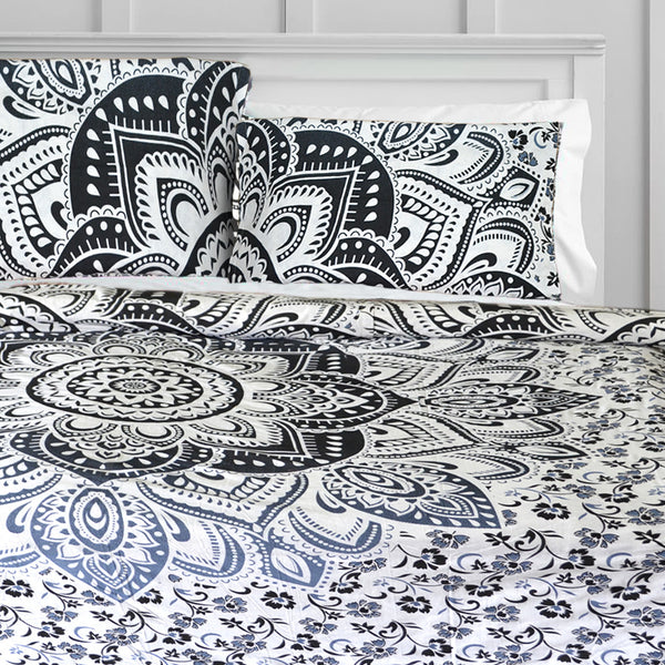 The Black Lotus Duvet Doona Cover Set - KraftDirect