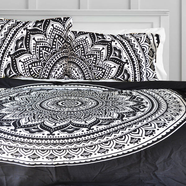 Black Ombre DUVET DOONA COVER SET