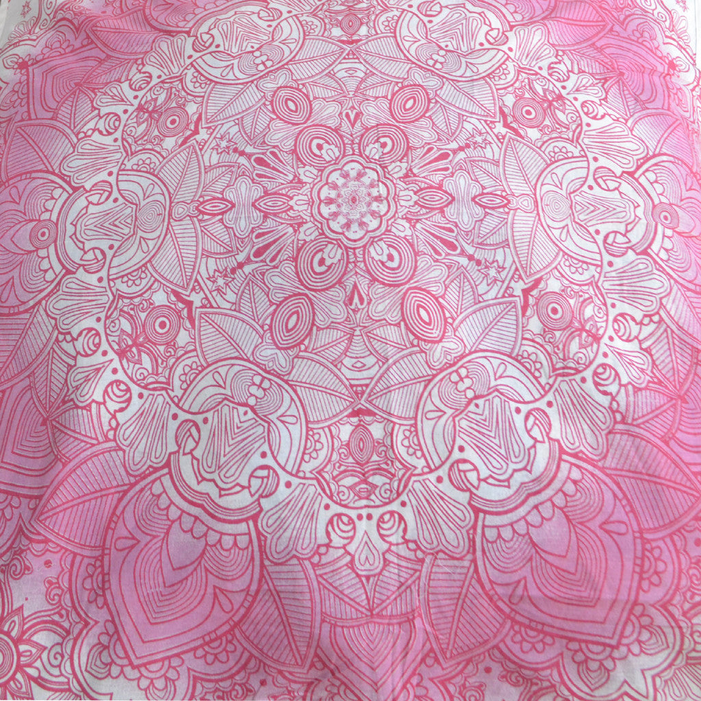 Light Pink Floor Pillows : Light Pink Mandala Cushions On A White Base Square Floor Pillow ? KraftDirect