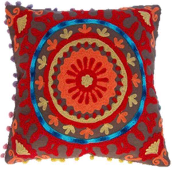 Concentric persian chakra cushion cover