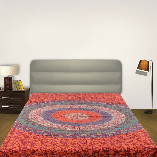 Mandala Psychedelic Red and BlueTapestry - KraftDirect