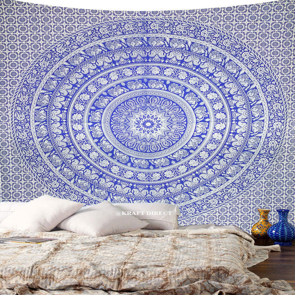 BLUE WATER TAPESTRY AND BEDDING