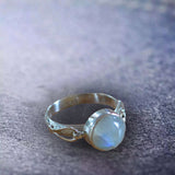 STERLING STAR CHARISMA RAINBOW MOONSTONE RING
