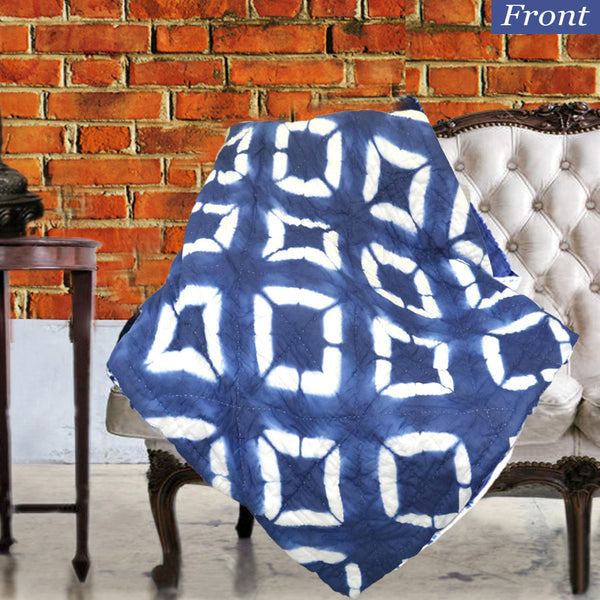 Square patterned Tie Dye Decorative Throw For Sofa - KraftDirect