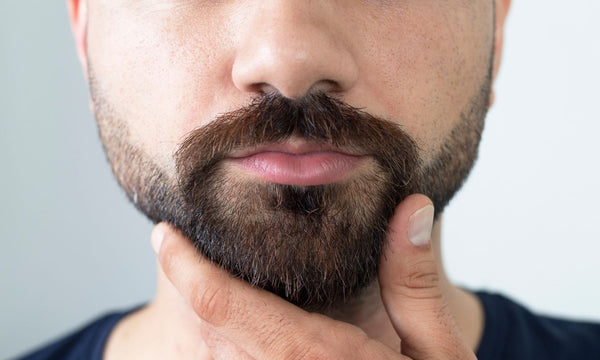 Short beard style: Prominent goatee with intact surrounds