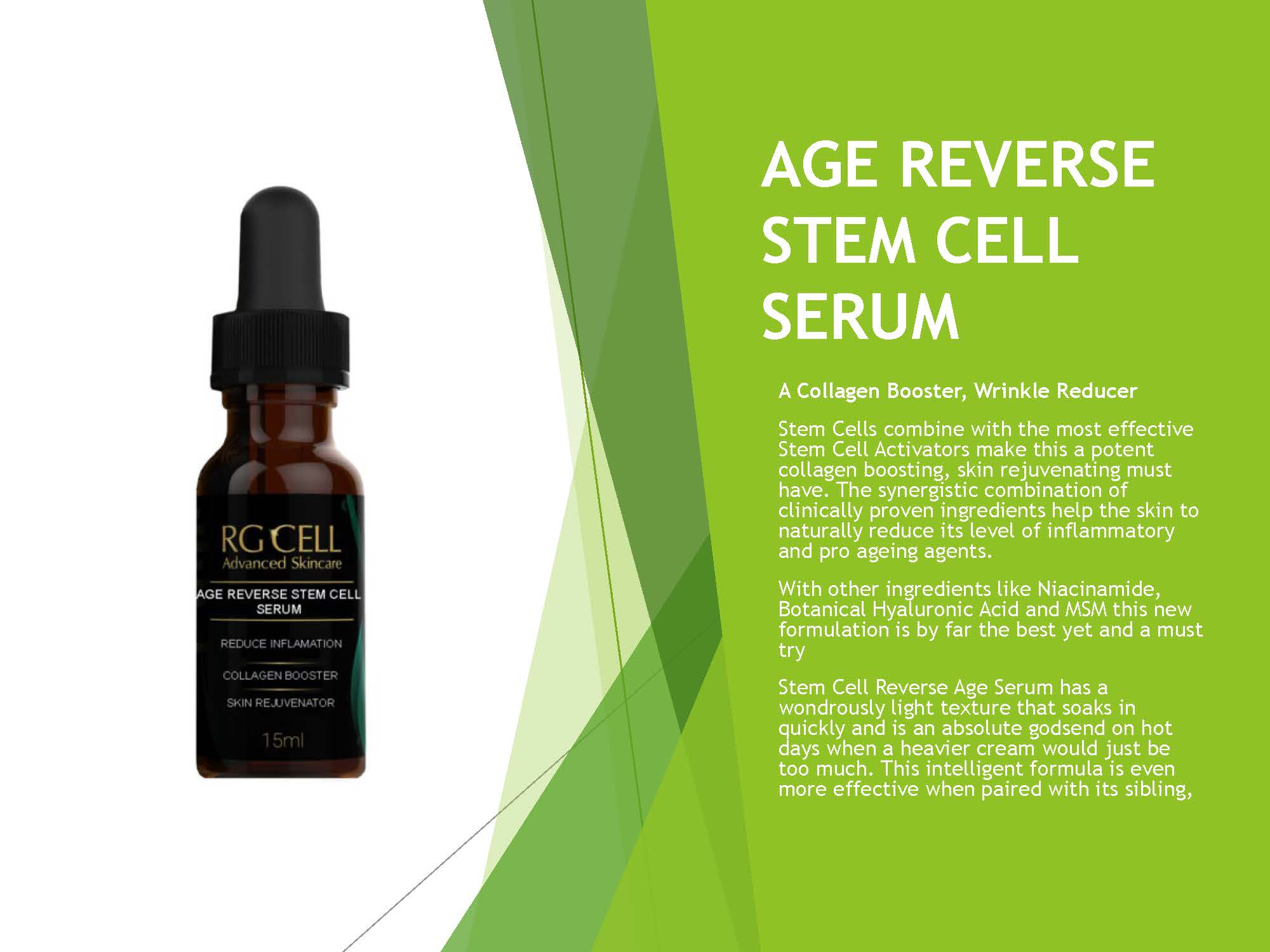 Age Reverse Stem Cell Serum