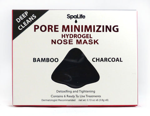 Pore Minimizing Bamboo Charcoal Hydrogel Nose Masks - 6 Pack
