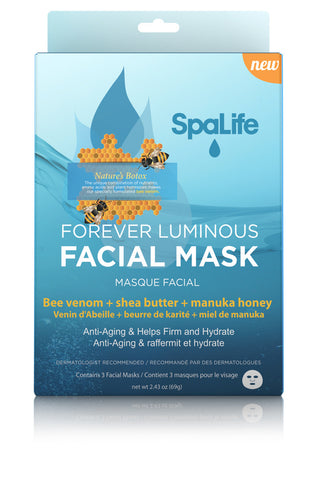 Bee Venom, Shea Butter, & Manuka Honey Hydrating Facial Mask 3 Pack