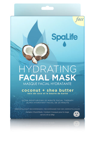 Coconut Hydrating Facial Mask 3 Pack