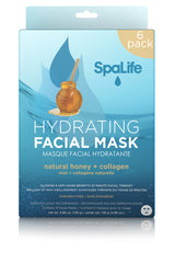 Hydrating Natural Honey & Collagen Facial Masks - 6 Pack