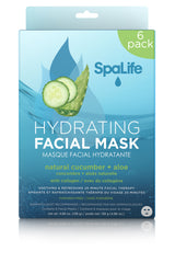 Hydrating Natural Cucumber & Aloe Facial Masks - 6 Pack