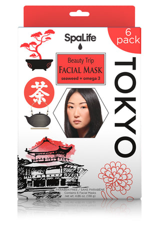 Beauty Trip to Tokyo Facial Mask (Seaweed & Omega 3) 6 Pack