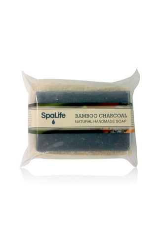 Bamboo Charcoal Soap with Loofah Body Scrubber
