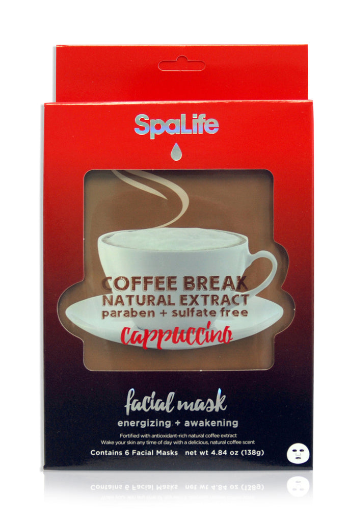 Natural Extract Cappuccino Coffee Break Facial Masks