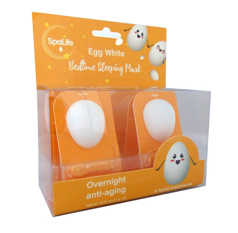Egg White Bedtime Sleeping Mask - 4 Pack