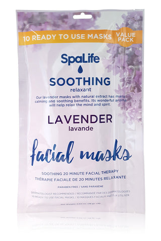 Soothing Lavender Facial Masks - 10 Pack