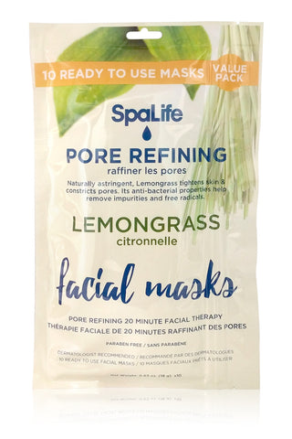 Pore Refining Lemongrass Facial Masks - 10 pack