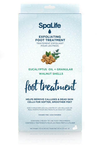 Exfoliating Foot Treatment with Eucalyptus Oil and Walnut Shells