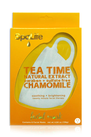 Natural Chamomile Tea Time Facial Masks - 6 Pack