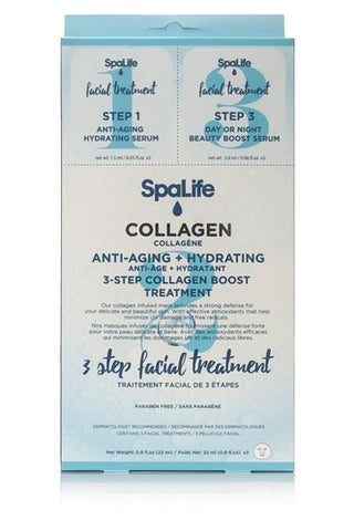 Three Step Facial Treatment with Collagen 3 Pack