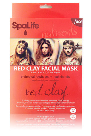 Red Clay Facial Mask (Mineral Oxides and Nutrients)