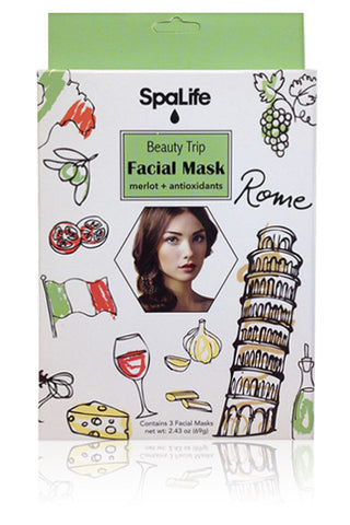 Beauty Trip to Rome Facial Mask (Merlot & Antioxidants) 3 Pack