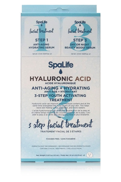 Three Step Facial Treatment with Hyaluronic Acid 3 Pack