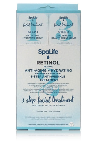 Three Step Facial Treatment with Retinol 3 Pack