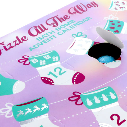 Holiday Mini Bath Bomb Advent Calendar - Fizzle All the Way