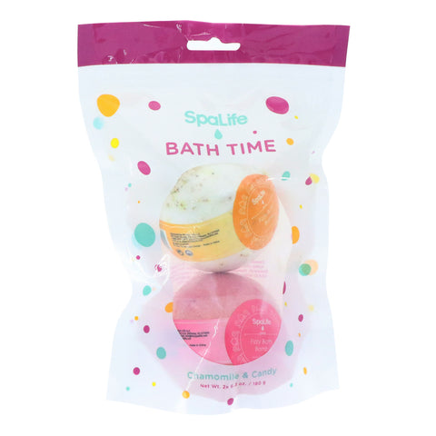 Bath Time Bath Fizzer 2 pack – Chamomile & Candy