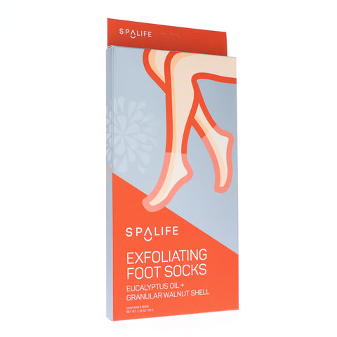 NEW! Exfoliating Foot Socks - Eucalyptus Oil + Granular Walnut Shell