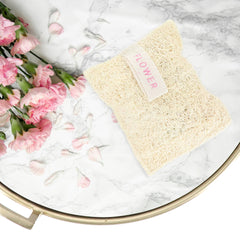 Loofah Mitt Bag With Soap - Floral