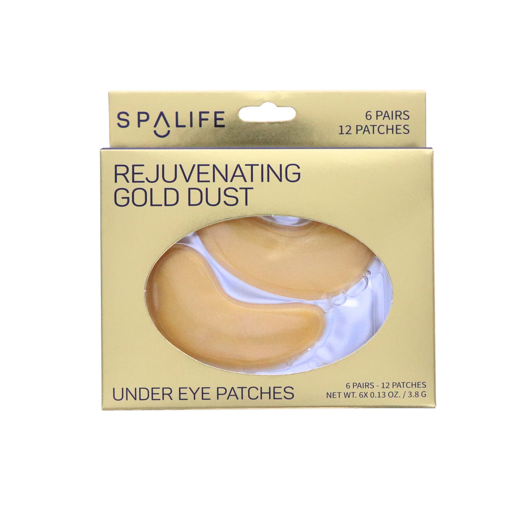 Rejuvenating Gold Dust Under Eye Patches - 6 Pack