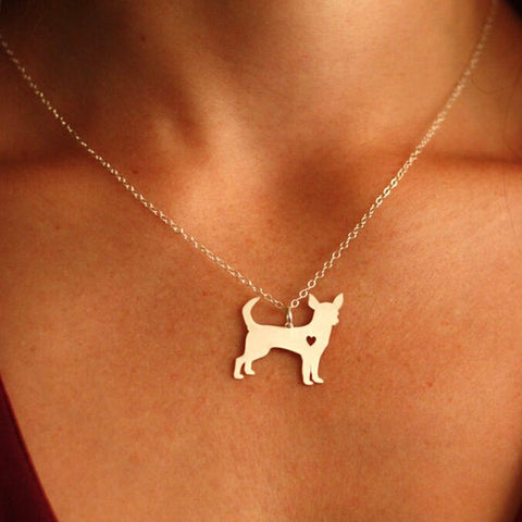 Puppy Heart Dog Lover Pendant Necklace