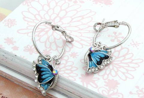 Fashionable Butterfly Drop Earrings