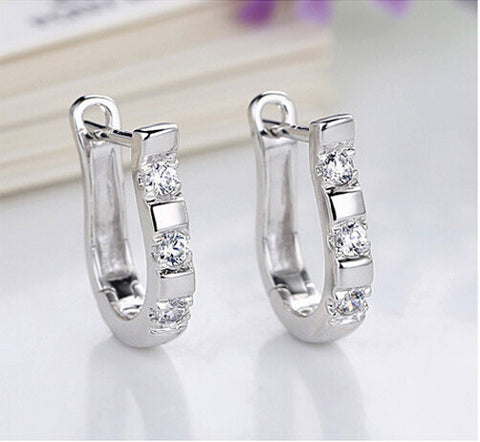Flashy Silver Horseshoe Earrings