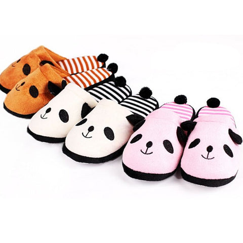 Adorable Panda Fluffy Warm Plush Slippers