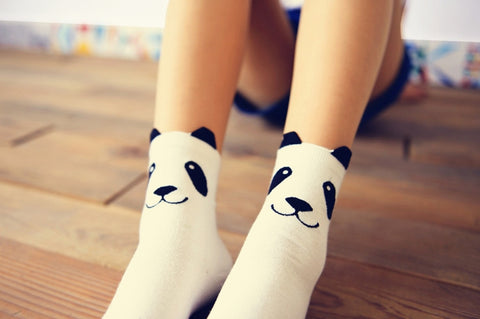 Cute Panda Cotton Socks
