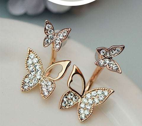 Fine Butterfly Pair Stud Earrings