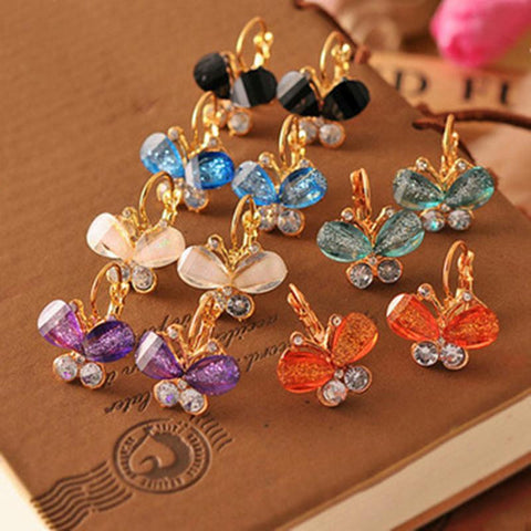 Exquisite Butterfly Bow Knot Stud Earrings