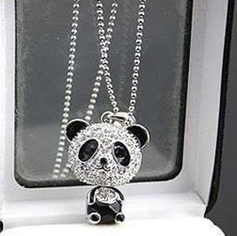 Panda Crystal Pendant Necklace